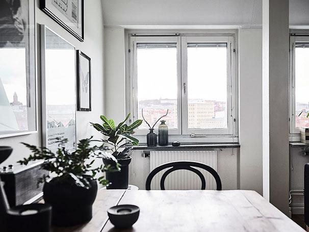 décoration noir et blanc cuisine