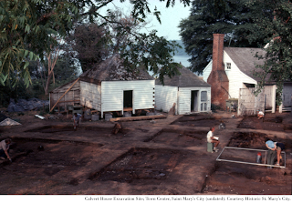 Undated image; Calvert House Excavation Site; Town Center, Saint Mary's City. Courtesy Historic St. Mary's City.