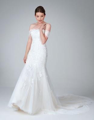 winona- a soft blush ivory color wedding dress