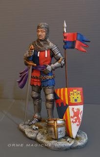 statuina cavaliere con volto realistico idea regalo collezionista modellismo e rievocazione storica orme magiche