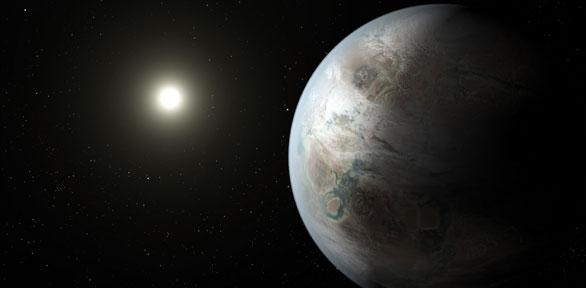 Artist's concept depicting one possible appearance of the planet Kepler-452b  Credit: NASA Ames/JPL-Caltech/T. Pyle