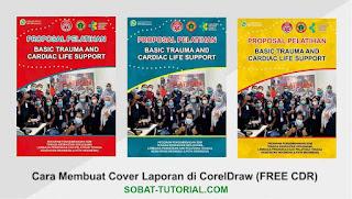Cara Membuat Cover Laporan di CorelDraw + Free Desain Template Laporan