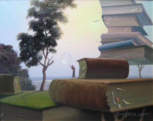 14-Knowledge-Keeper-Victor-Bregeda-Surreal-Paintings-Encapsulating-a-Message-www-designstack-co
