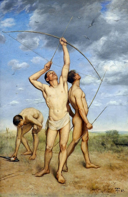 Hans Thoma - Arcieri - Archers - dream men