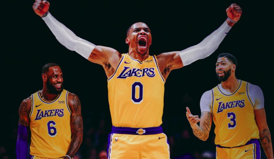 Photo de Russel Westbrook aux Lakers