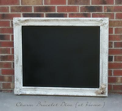 DIY vintage frame chalkboard