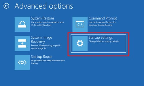Advanced options five options