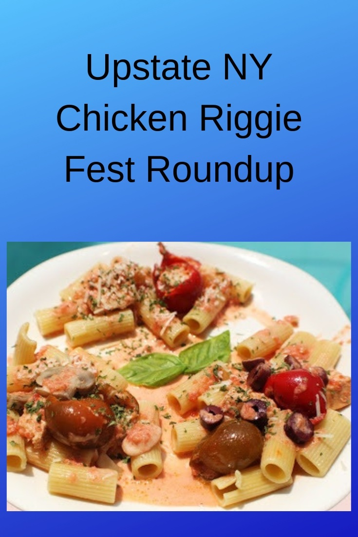 These are a famous chicken pasta dish called chicken riggies made in Utica New York restaurants
