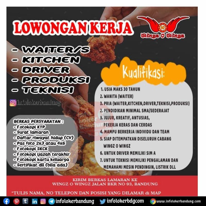 Lowongan Kerja Wingz O Wingz Bandung Mei 2021