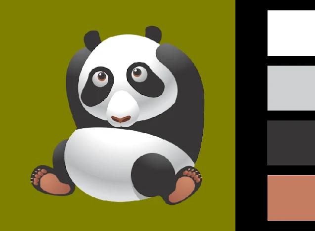 Gambar Mewarnai Hewan Panda : Download