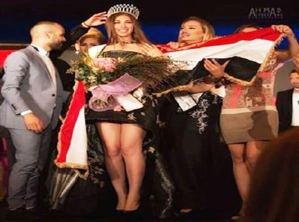 """فيديو """"أنجي مراد"""" تفوز بلقب Miss Asia World 2017 فى بيروت"""