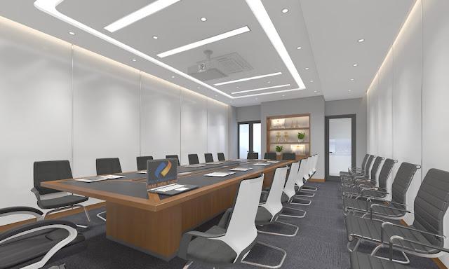 Một chiếc bàn họp tốt phải hài hòa với kích thước căn phòng