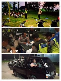 Dikarenakan Aksinya telah Meresahkan Masyarakat maupun Pengguna Jalan, Puluhan Pembalap Liar Diberantas Oleh Satlantas Polresta Jambi
