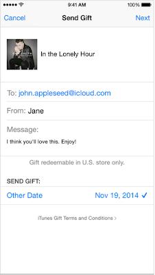 Send Gift iTunes