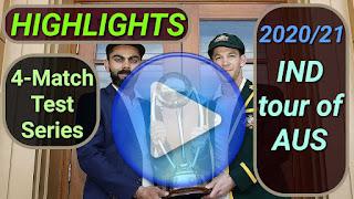 Australia vs India Test Series 2020/21