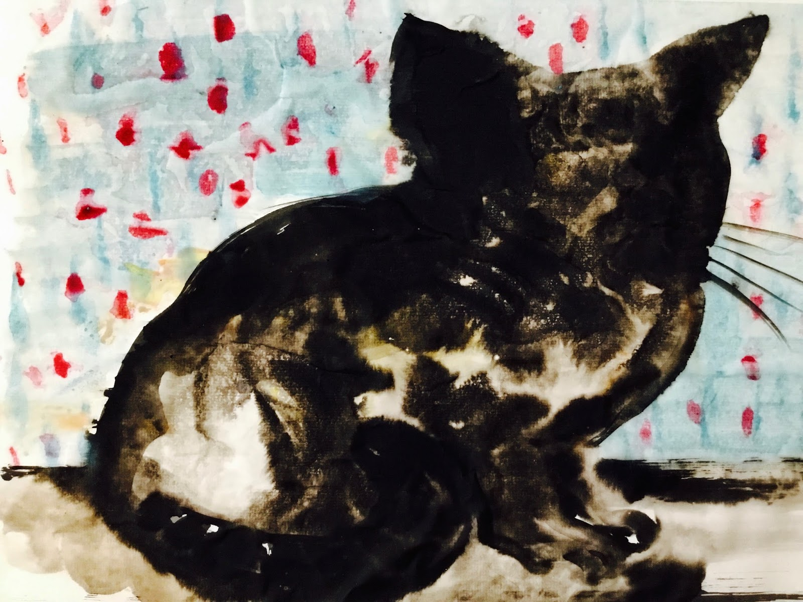 Cat in brush and ink