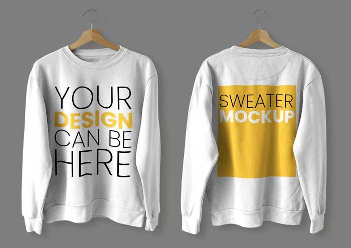 Front Back Sweater Mockup