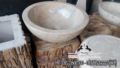 Meja Wastafel Granit Marmer, Model Wastafel Batu Alam, Harga Wastafel Batu Marmer