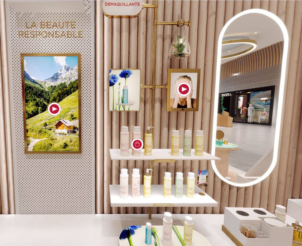 avis visite virtuelle boutique clarins