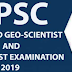 Combined Geo-Scientist & Geologist Examination-2019