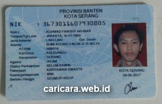 Contoh Foto KTP untuk Vertifikasi Identitas Adsense