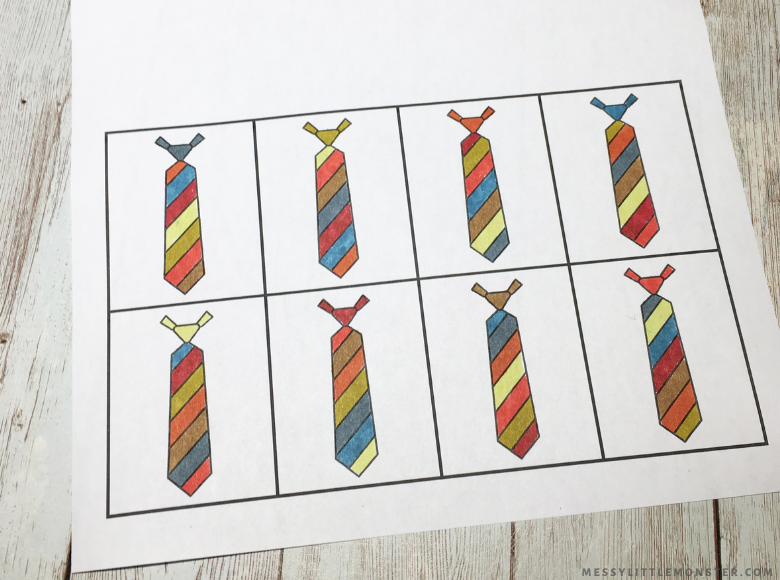 Father's Day tie template