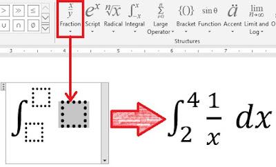 cara membuat integral di word