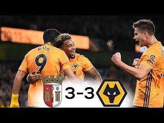 Braga 3 - 3 Wolves Europa league highlight