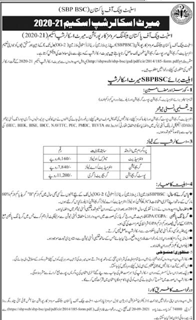 state-bank-of-pakistan-merit-scholarship-2021-form