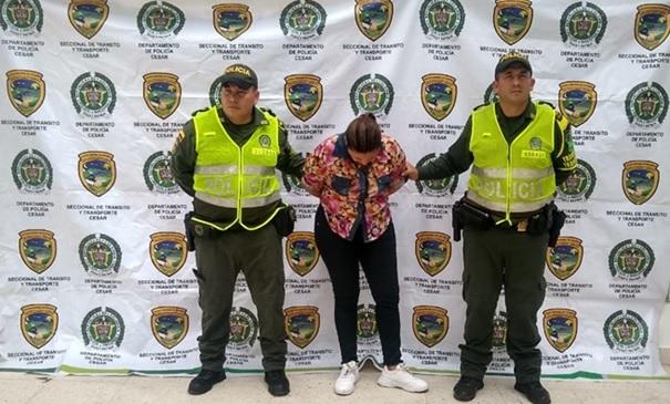 Mujer buscada por homicidio en Cundinamarca fue captura al sur del Cesar