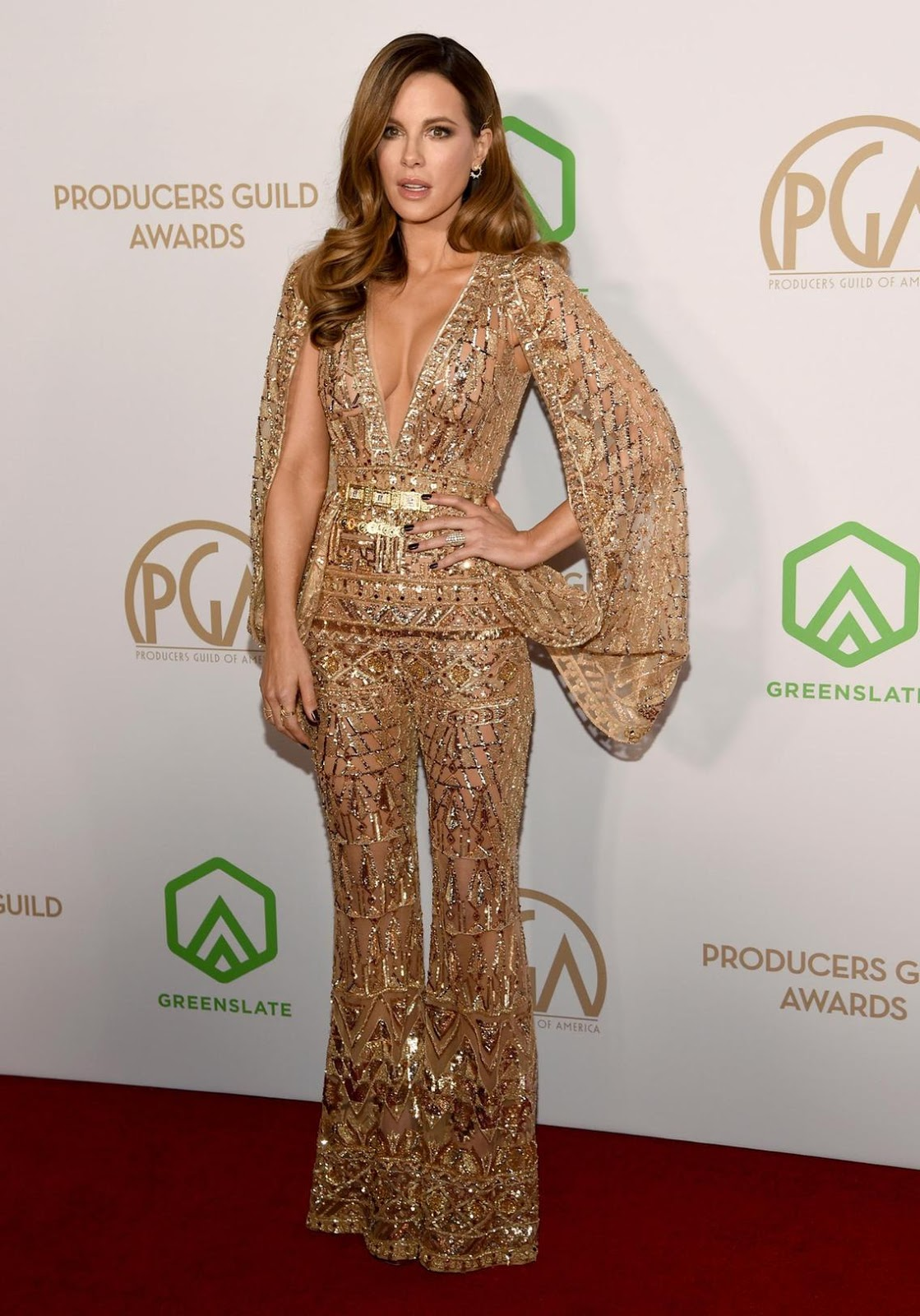 Kate Beckinsale in Zuhair Muard Fall 2019 Couture at the 2020 Producers Guild Awards