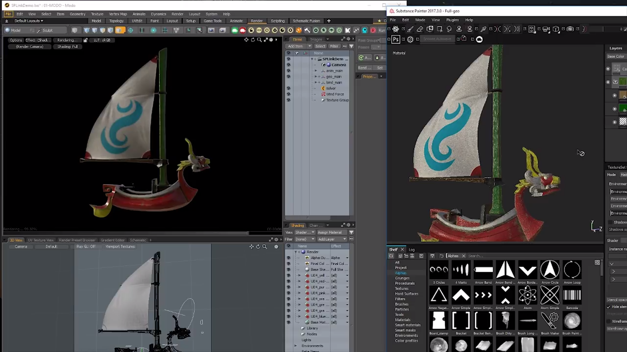 Substance Painter Live Link for MODO, Maya & Blender - Plugins