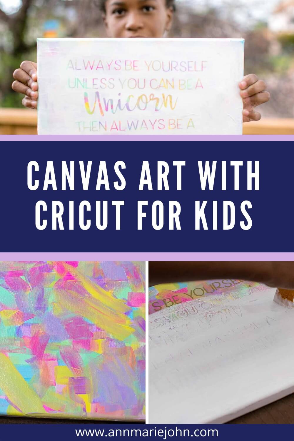 Canvas Art with Cricut For Kids