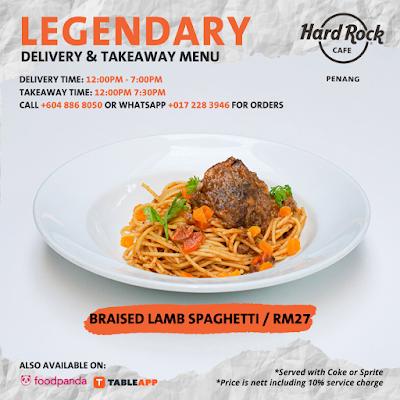 Legendary Delivery & Takeaway di Hard Rock Hotel Penang
