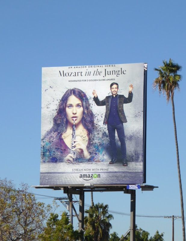 Mozart in the Jungle season 2 Amazon billboard