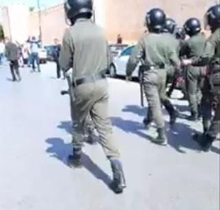 إصابات ومطاردات في فض وقفة احتجاجية لأساتذة بالقوة