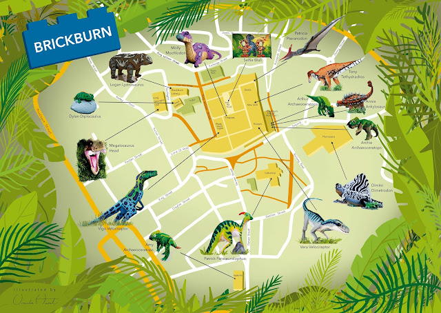 Brickburn Brickosaurs Map of Town Centre dinosaur locations