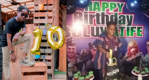 Wizkid son, Boluwatife Turns 10yr old as he celebrates it in Grand style (Video)