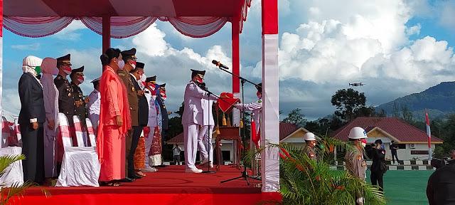 Bupati Natuna Pimpin Upacara Detik-Detik Proklamasi Kemerdekaan RI ke-76