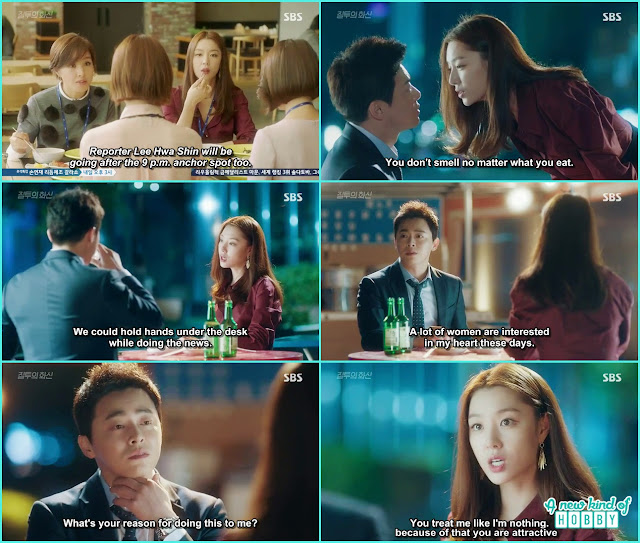 female newscaster hit ion hwa shin while drinking and ask him to date because he is the only one who treat her like no body- Jealousy Incarnate - Episode 8 Review
