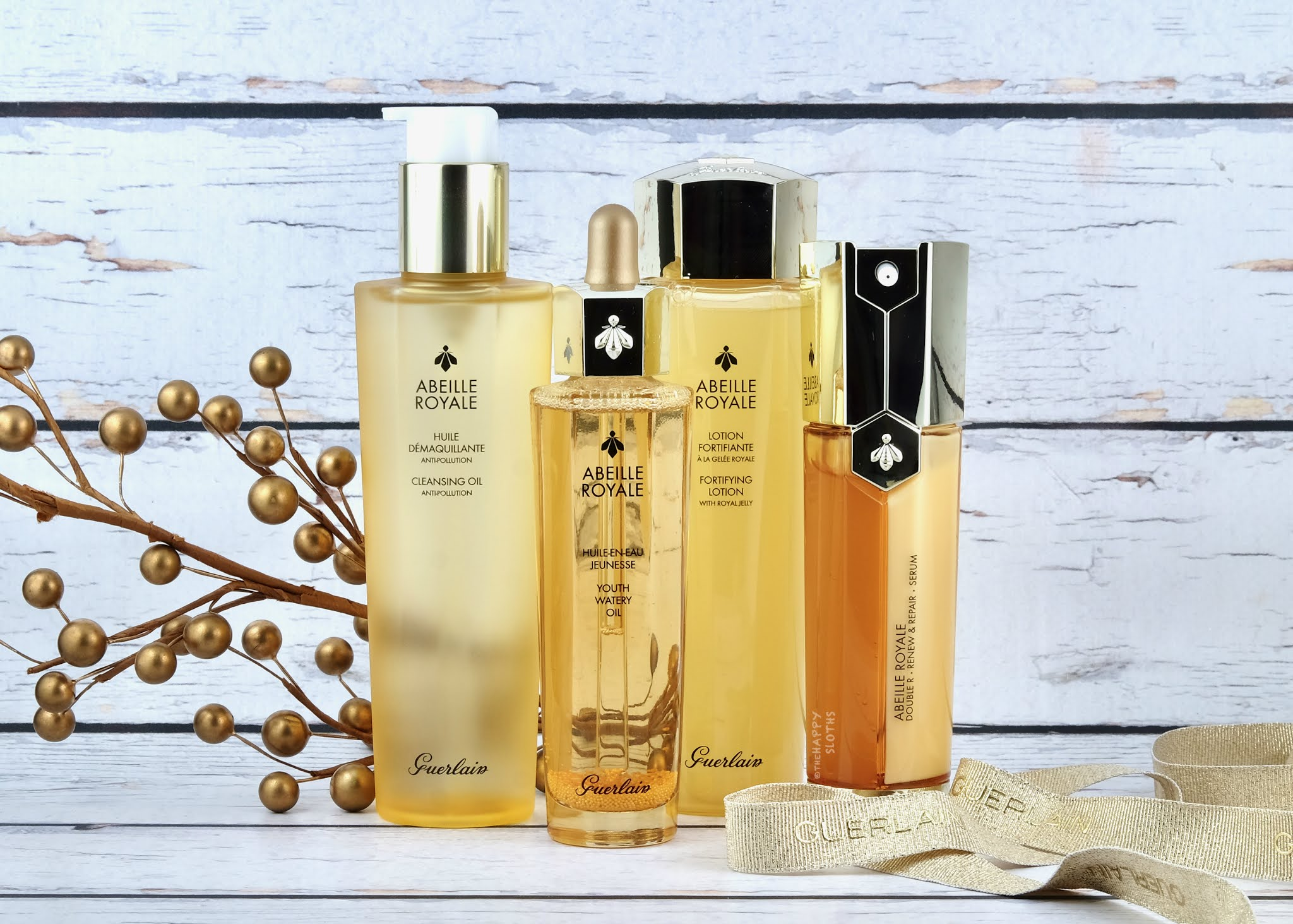 Guerlain | Abeille Royale Cleansing Oil, Fortifying Lotion, Youth Watery Oil & Double R Serum: Review