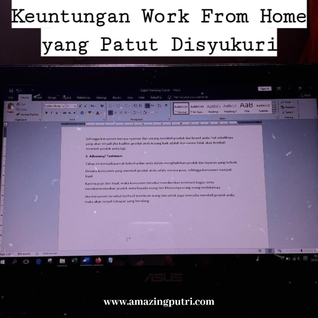 Keuntungan Work From Home yang Patut Disyukuri