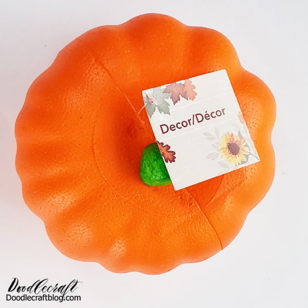 How to Paint Loose Florals on a Pumpkin: Add big loose florals to pumpkins! This is a great technique for real or fake pumpkins! I love the dollar store pumpkins, but they are so Styrofoam and bright orange...they need a little help.  Supplies Needed for Loose Floral Pumpkin: Foam Pumpkin Black Outdoor FolkArt Paint FolkArt Dragonfly Glaze Paint (at least 3 varieties) Paint Brushes Variety of FolkArt Paint Branch for stem Hot Glue/Gun