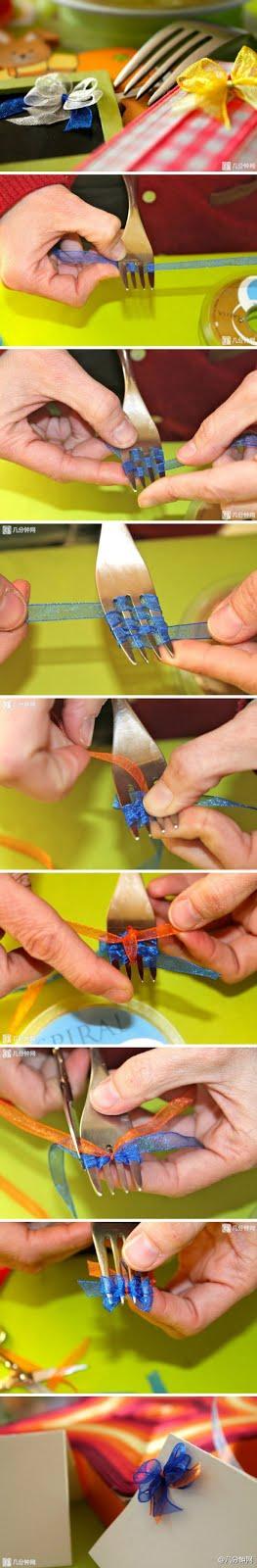 Hacer lazo con tenedor
