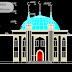مخطط مسجد بطابقين بشكل جميل اوتوكاد dwg