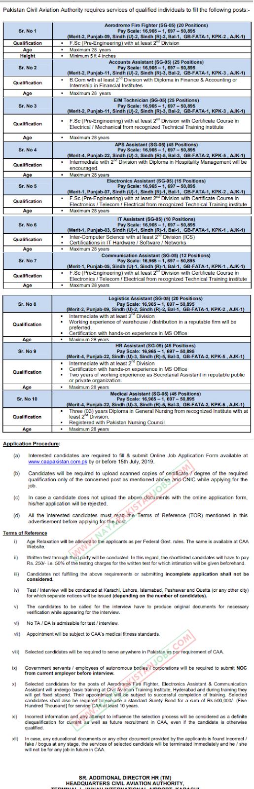 CAA Jobs, CAA Pakistan Jobs, CAA Latest Jobs 2019 July - Civil Aviation Authority