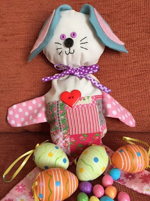 Stuffed Easter bunny sewing craft