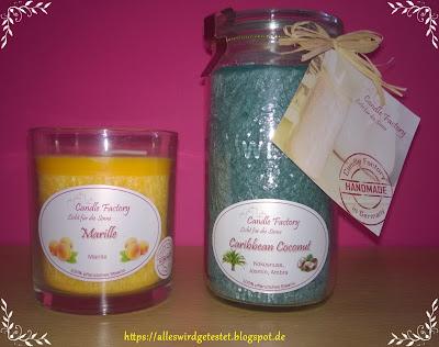 Duftkerze Marille und Caribbean Coconut