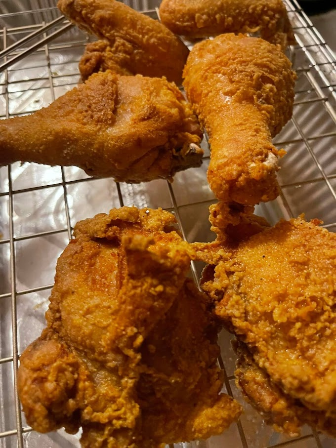 Spicy Southern fried chicken!