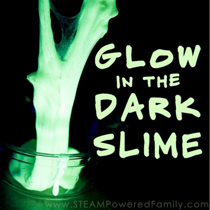 glow in the dark fluorescent slime